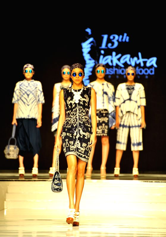 JAKARTA, May 6, 2016 - A model presents a creation by Handy Hartono from Indonesia during the 13th Jakarta Fashion and Food Festival in Jakarta, Indonesia, May 6, 2016.