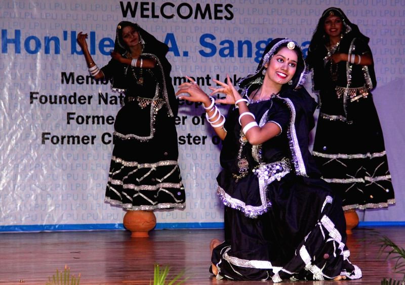 Students performs during the inauguration of two days Pharmacy Conference at LPU (Lovely Professional University) in Jalandhar on Nov 22, 2014.