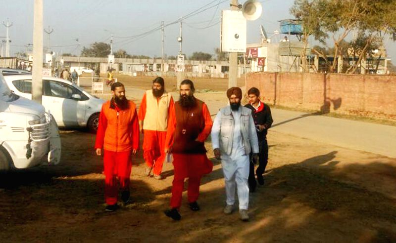 The spokesperson of Divya Jyoti Jagriti Sansthan, Swami Vishalnand during his visit to the ashram in Nurmahal, Jalandhar, on Dec 3, 2014. The private security of the sansthan has stepped ..