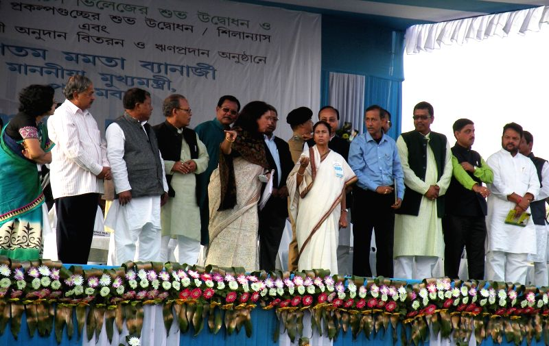 West Bengal Chief Minister Mamata Banerjee during a public meeting in Jalpaiguri of  West Bengal on Dec 3, 2014. - Mamata Banerjee