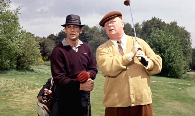 James Bond plays golf with Goldfinger - the match spanned two chapters in the Ian Fleming book