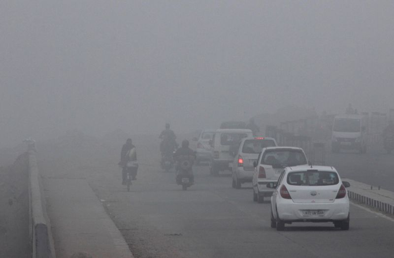 A​ blanket of​ dense fog covers Jammu on Jan 5, 2015.