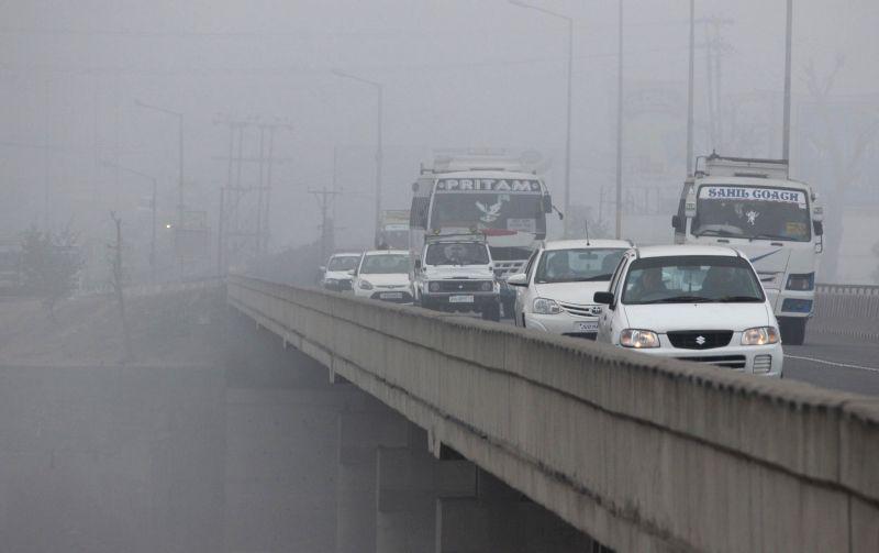 A blanket of dense fog covers Jammu on Jan 11, 2015.