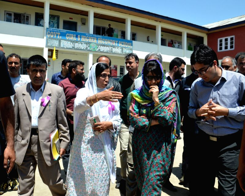 Jammu and Kashmir Chief Minister Mehbooba Mufti during her visit to Anantnag district of Kashmir on May 19, 2016. - Mehbooba Mufti