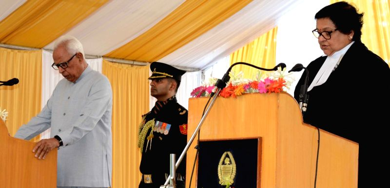 Jammu and Kashmir Governor N.N. Vohra administered oath of Office to Justice Gita Mittal as Chief Justice of the Jammu and Kashmir High Court during a oath ceremony at the Raj Bhavan in ...