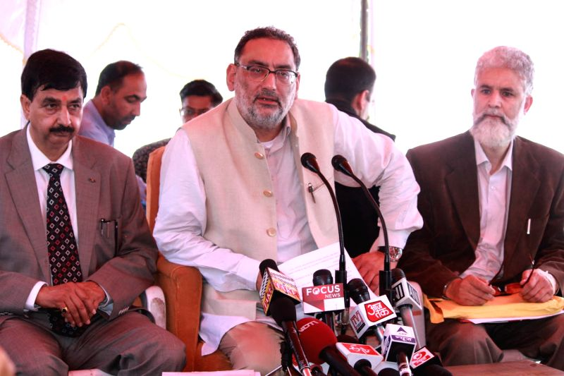 J&K Finance Minister Dr. Haseeb Drabu during a press conference in Jammu on March 22, 2015. - D