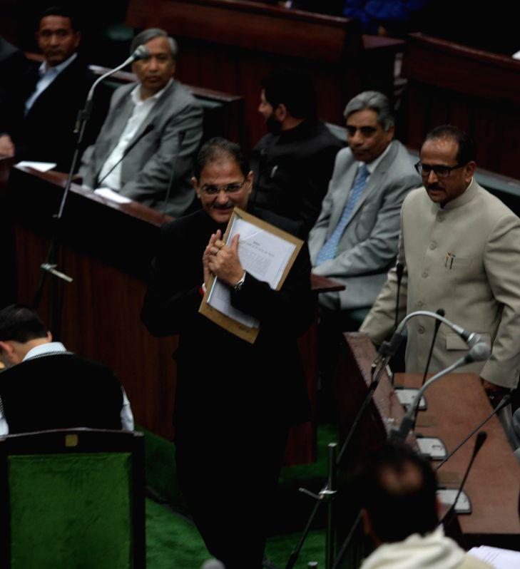 Kavinder Gupta, a Bharatiya Janata Party legislator, who was elected as the speaker of the Jammu and Kashmir legislative assembly in Jammu, on March 18, 2015.