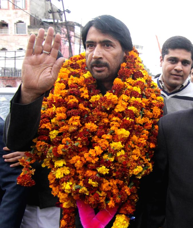 Newly-appointed Jammu and Kashmir Congress chief Ghulam Ahmed Mir in Jammu, on March 3, 2015.