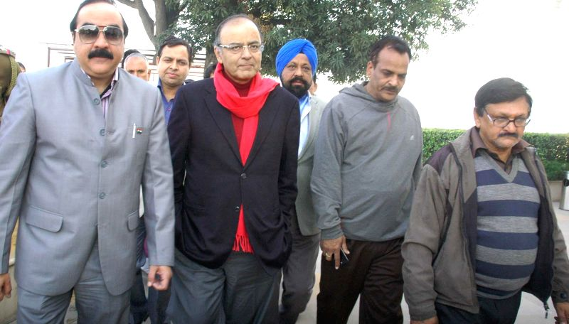 Union Minister for Finance, Corporate Affairs, and Information and Broadcasting Arun Jaitley during his visit to Jammu on Dec 25, 2014.