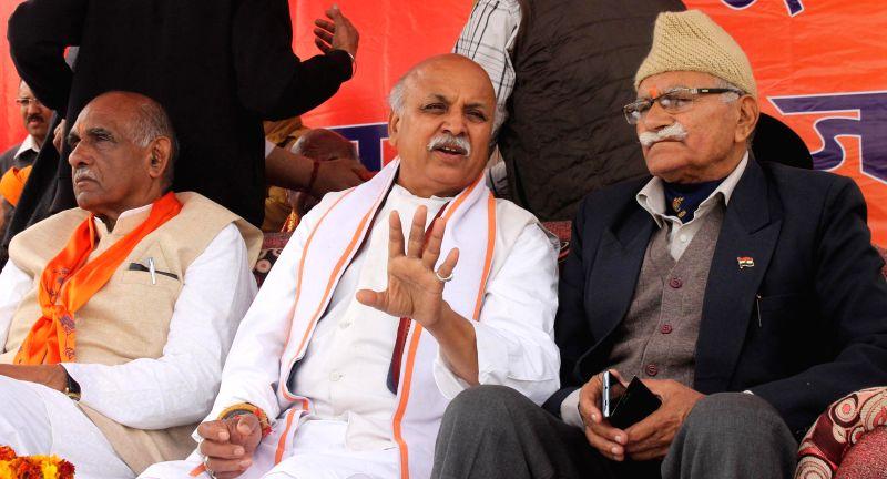 VHP leader Praveen Togadia during a Vishal Hindu Sammelan in Jammu, on March 8, 2015.
