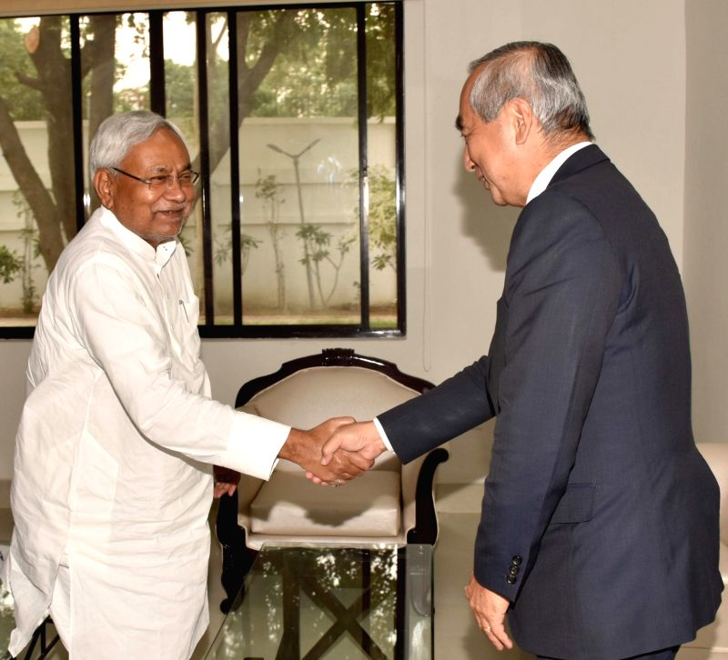 Japan's Ambassador to India Kenji Hiramatsu meets Bihar Chief Minister Nitish Kumar, in Patna on June 11, 2018. - Nitish Kumar