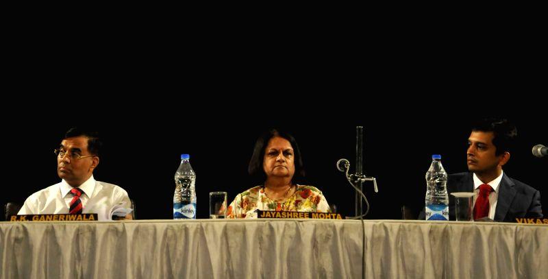 Jay Shree Tea chairman Jayashree Mohata during Annual General Meeting the company in Kolkata, on Aug 5, 2016.