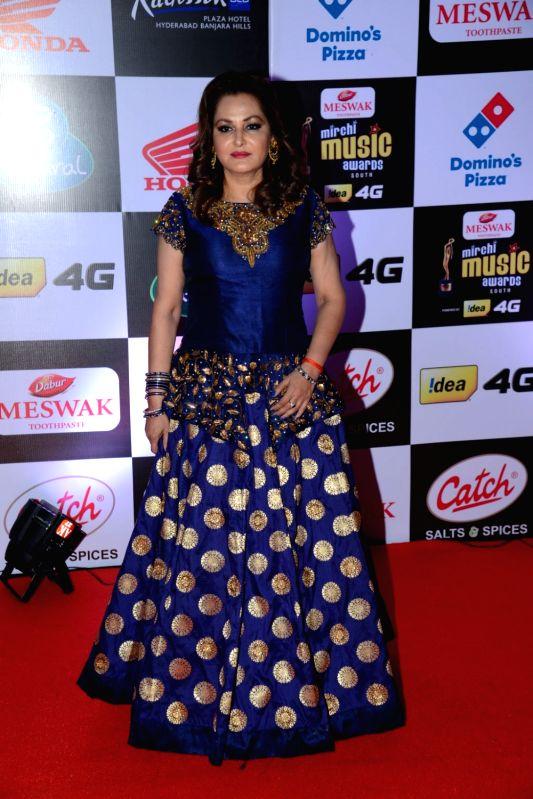 Jayaprada at Mirchi Music Awards South 2016, on July 27, 2016.