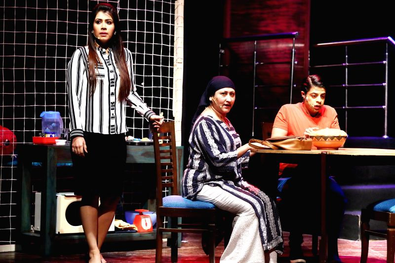Jayati Bhatia, Ankita Karan Patel, Ssumier Pasricha and Chitrashi Rawat performed on a hinglish play \'Amavas Se Amaltas\' at India Habitat Centre on Sunday. - Ankita Karan Patel