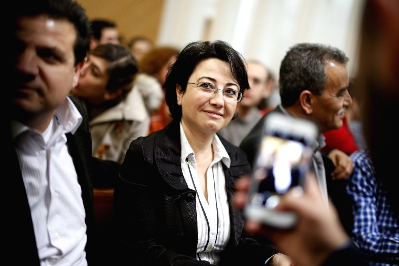 Israeli Arab lawmaker Haneed Zoabi (C) attends a hearing at the Israeli Supreme Court in Jerusalem, on Feb. 17, 2015.  The Israeli Supreme Court Wednesday ...
