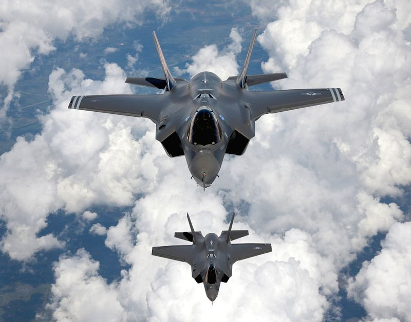 This undated file photo provided by Northrop Grumman Corp., shows F-35 A Joint Strike Fighters. Israel signed a deal to purchase 14 additional U.S.-made F-35 ...