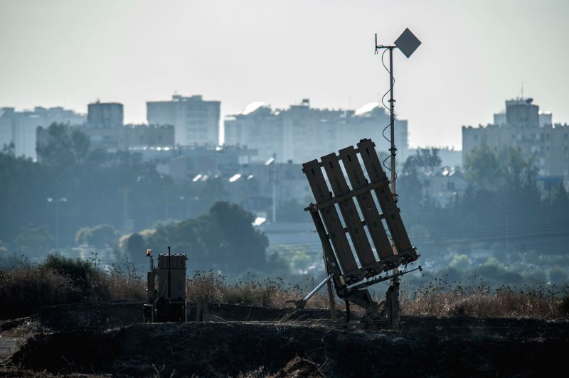 File photo taken on July 8, 2014, shows an Iron Dome anti-missile shield system deployed near Ashdod, southern Israeli city bordering Gaza. Israeli Defense ...