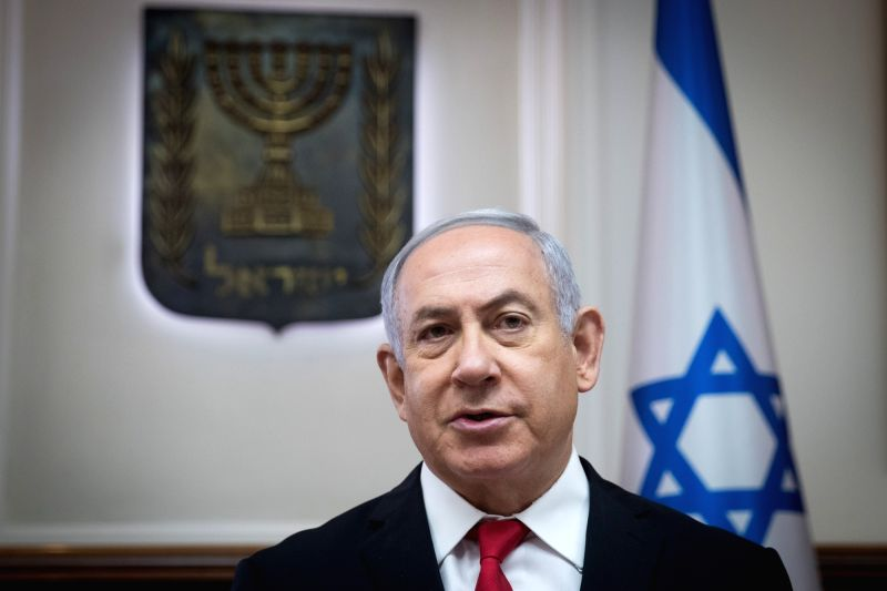 JERUSALEM, June 10, 2018 - Israeli Prime Minister Benjamin Netanyahu chairs the weekly cabinet meeting in Jerusalem, on June 10, 2018. Benjamin Netanyahu said Sunday that European leaders have agreed ... - Benjamin Netanyahu