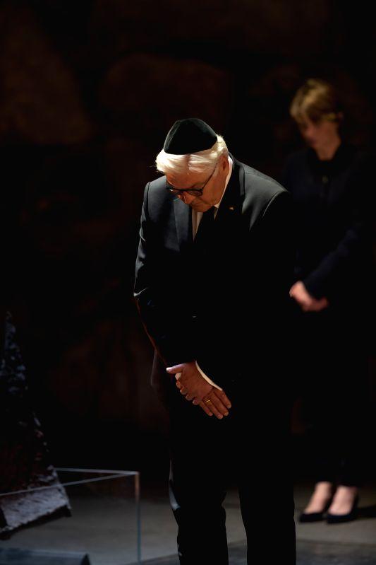 JERUSALEM, May 7, 2017 - German President Frank-Walter Steinmeier visits Yad Vashem Holocaust Memorial in Jerusalem, May 7, 2017.