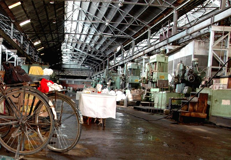 Jessop factory re-open after three month in Kolkata on Aug 9, 2014.