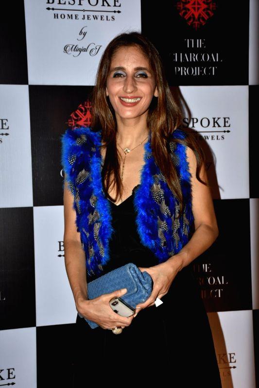 Jewellery designer Farah Khan Ali at a store launch in Mumbai on April 13, 2018 . - Farah Khan Ali