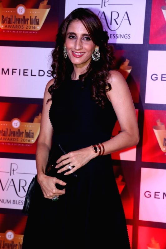 Jewellery designer Farah Khan Ali during the 12th Gemfields Retail Jeweller India Awards 2016, in Mumbai, on August 6, 2016. - Farah Khan Ali
