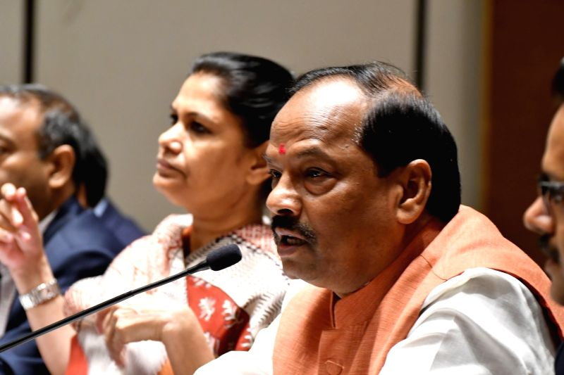 Jharkhand Chief Minister Raghubar Das addresses during Global Investment Summit in Hyderabad on July 20, 2016. - Raghubar Das