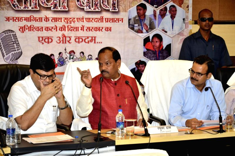 Jharkhand Chief Minister Raghubar Das addresses during 'Jan-Sawand' in Ranchi on July 26, 2016. - Raghubar Das