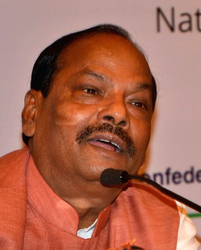 Jharkhand Chief Minister Raghudar Das addresses during Domestic Road Show: Global Investors Summit 2017, in Bengaluru on July 19, 2016. - Raghudar Das
