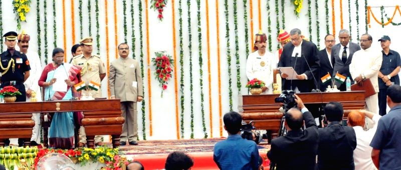 Jharkhand Governor Droupadi Murmu administered oath of Office to Justice Aniruddha Bose as Chief Justice of the Jharkhand High Court during a oath ceremony at the Raj Bhavan in Ranchi on Aug ... - Aniruddha Bose