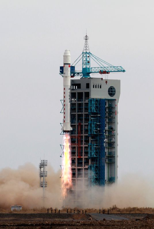 A Long March-2D carrier rocket carrying the Yaogan-24 remote sensing satellite blasts off from the launch pad at the Jiuquan Satellite Launch Center in Jiuquan, northwest China's Gansu ...