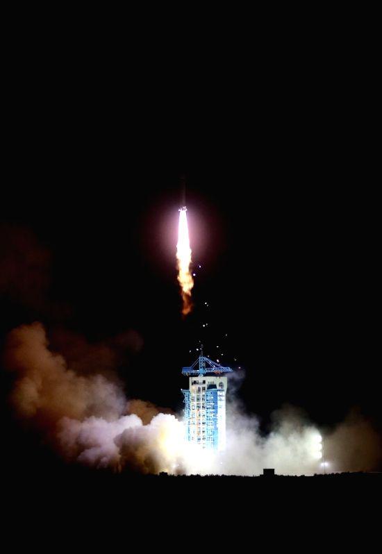 JIUQUAN, April 6, 2016 - A Long March 2-D rocket carrying the SJ-10 Satellite blasts off at the Jiuquan Satellite Launch Center in Jiuquan, northwest China's Gansu Province, April 6, 2016. China put ...