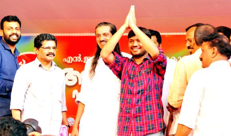 JNUSU President Kanhiya Kumar during a CPI-M programme in Kannur of Kerala on Aug 2, 2016. - Kanhiya Kumar