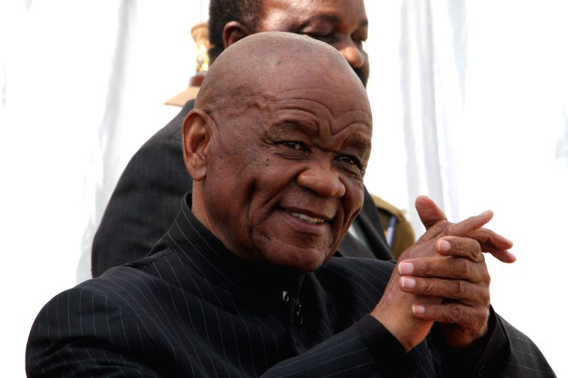File photo taken on Aug. 16, 2014 shows Lesotho's Prime Minister Thomas Thabane attending the 34th Southern African Development Community Heads of State and ... - Thomas Thabane