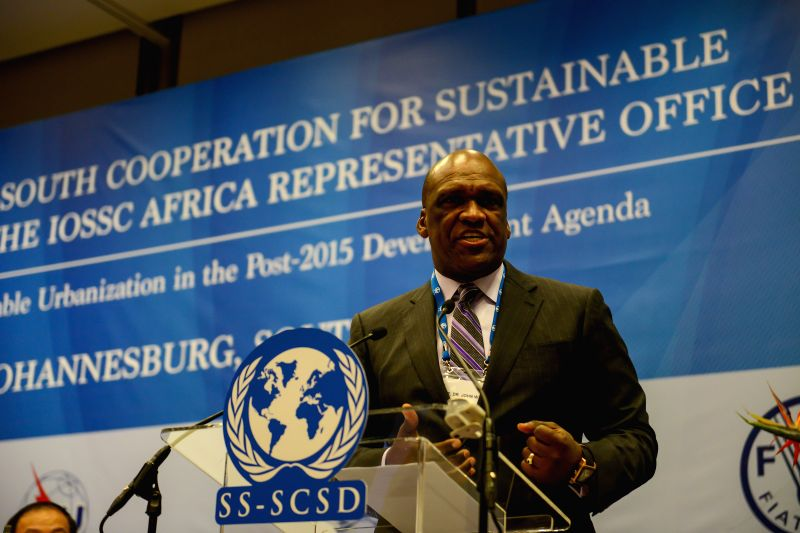 John Ashe, chairman of the South-South Steering Committee for Sustainable Development, addresses the High-level Forum of South-South Cooperation for Sustainable Development in ...