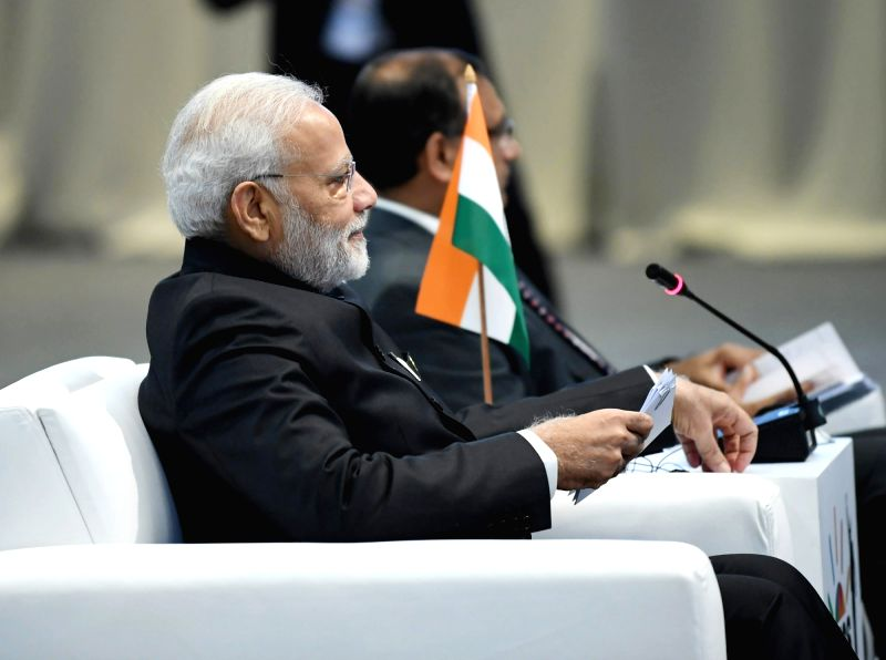 : Johannesburg: Prime Minister Narendra Modi at the 'Special Retreat Session', in Johannesburg, South Africa on July 27, 2018. (Photo: IANS/PIB).