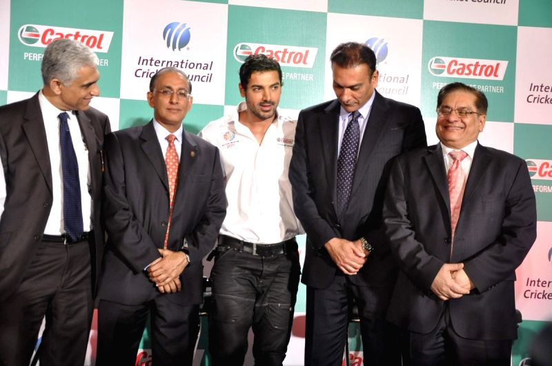 John Abraham at Castrol-ICC World Cup Event at Mumbai.