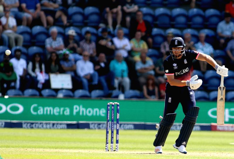 Jonny Bairstow of England in action during the first Semi-final match of ICC Champions Trophy between England and Pakistan at Sophia Gardens in Cardiff, Wales, Britain on June 14, 2017.