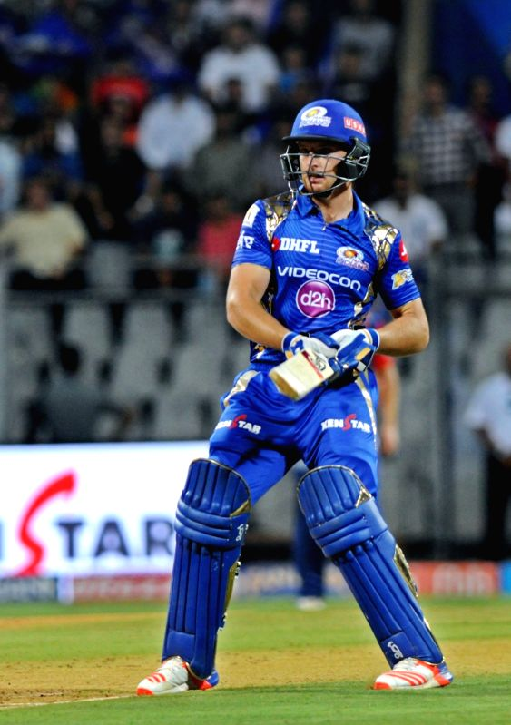 Jos Buttler of Mumbai Indians in action during an IPL 2017 match between Mumbai Indians and Delhi Daredevils at Wankhede Stadium in Mumbai on April 22, 2017.