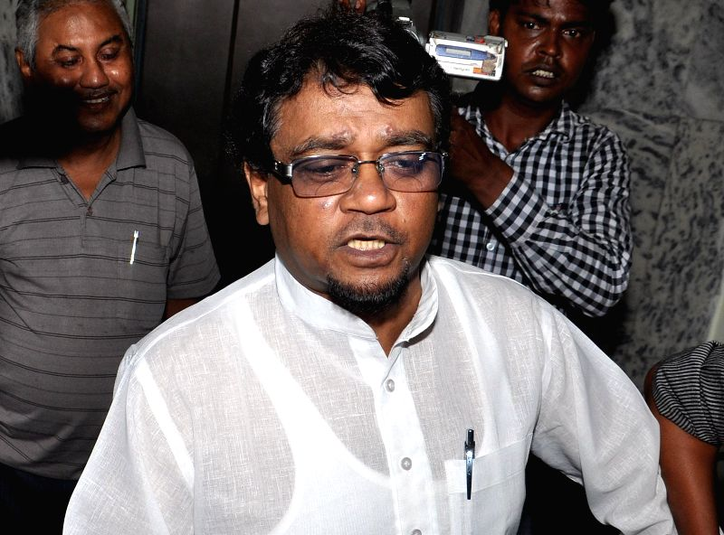 Journalist and Trinamool Congress parliamentarian Ahmed Hassan Imran arrives to appear before the Enforcement Directorate in connection with the multi-crore-rupee Saradha chit fund scam in Kolkata on - Ahmed Hassan Imran