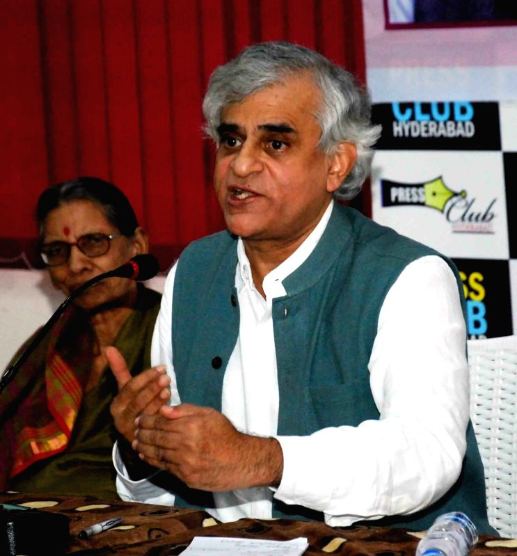 Journalist P Sainath addresses during V Hanumantha Rao Memorial Lecture in Hyderabad, on June 4, 2017.