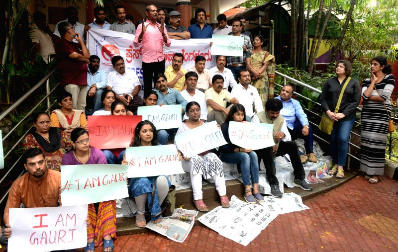 Gauri Lankesh killing - Journalists protest