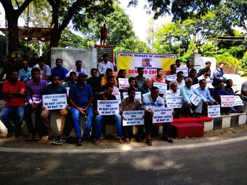 Journalists demand CBI investigation in Santana Bhaumik murder case