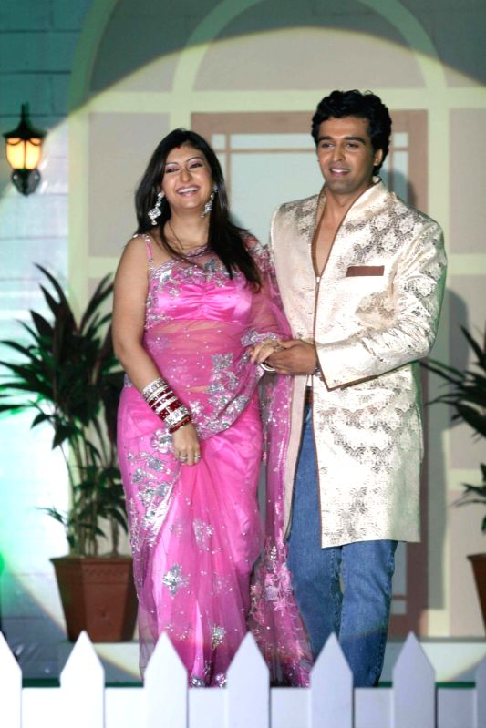 "Rakhi Sawant and Elesh Parujanwala at the launch of ""Pati"