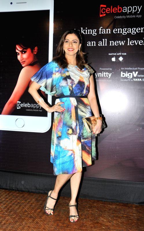 Jyoti Saxena during the launch of mobile application, Smita Gondkar app, in Mumbai, on July 22, 2016.