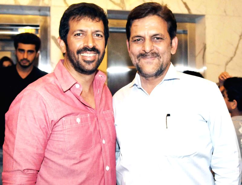 Kabir Khan, Rakesh Madhotra ceo nadiad wala grandson during special screening of film 2 States at YRF Studios in Mumbai on April 17, 2014. - Kabir Khan