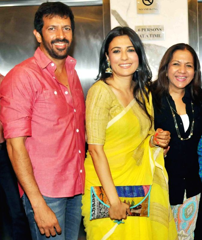 Kabir Khan with wife and Lali during special screening of film 2 States at YRF Studios in Mumbai on April 17, 2014. - Kabir Khan