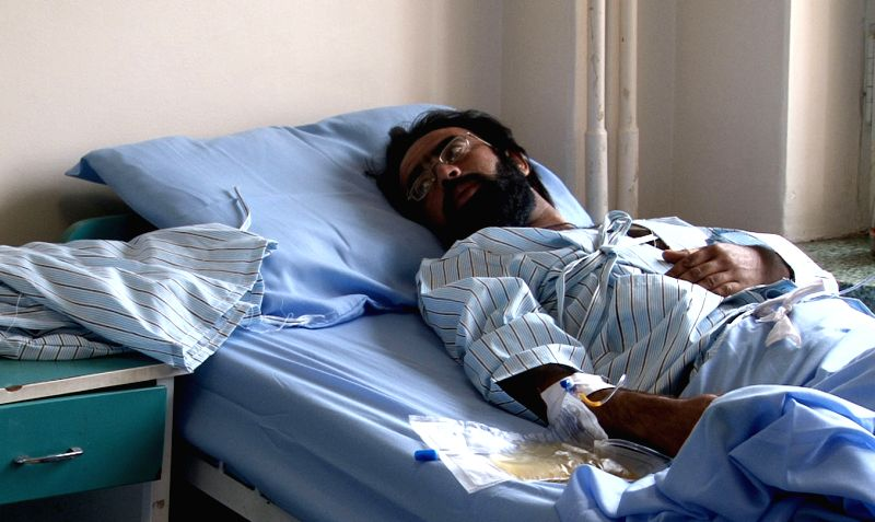 An Afghan wounded man receives treatment following a suicide bombing in Kabul, Afghanistan on Nov. 24, 2014. The bloody suicide bombing in Afghan eastern Paktika province on Sunday which had ..