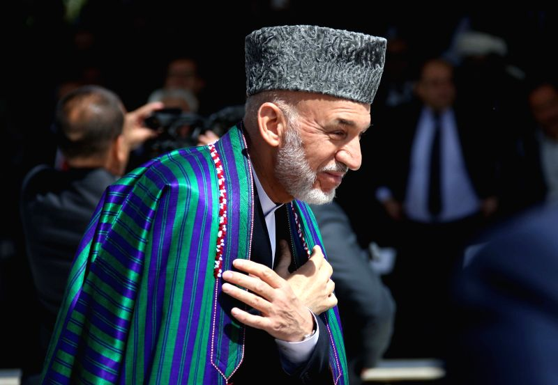 Afghan President Hamid Karzai attends the celebration of Afghan Independence Day in Kabul, Afghanistan, Aug. 19, 2014. Afghanistan marked the 95th anniversary of its .