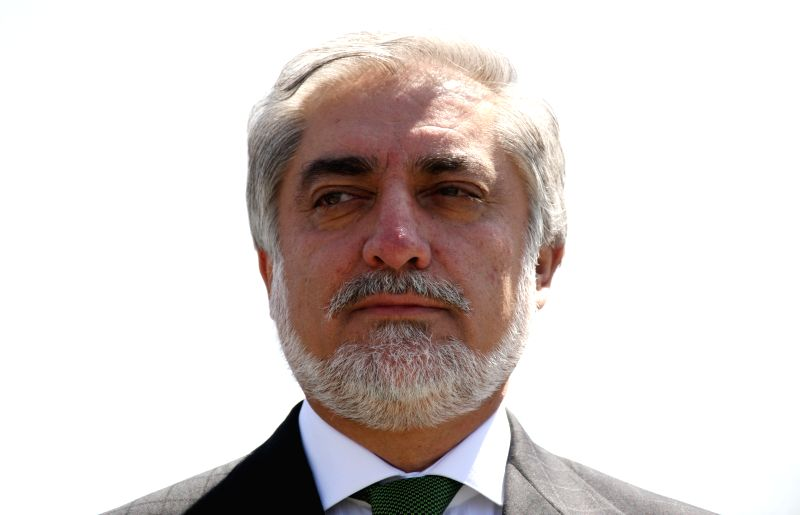 Afghan presidential candidate Abdullah Abdullah attends the celebration of Afghan Independence Day in Kabul, Afghanistan, Aug. 19, 2014. Afghanistan marked the 95th ..